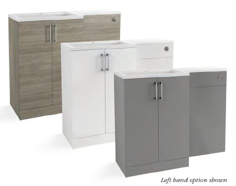 Volta FLOOR STANDING 1100MM L SHAPE FURNITURE PACK WITH BASIN