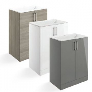 Volta FLOOR STANDING 2 DOOR UNIT WITH BASIN