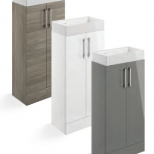 Volta FLOOR STANDING 400MM 2 DOOR UNIT WITH BASIN