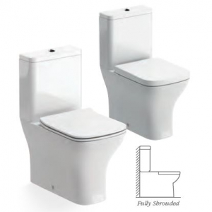 Cedarwood CLOSE COUPLED WC FULLY SHROUDED