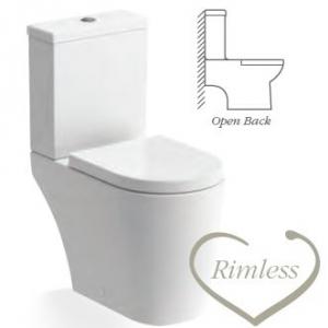 Cilantro CLOSE COUPLED WC RIMLESS OPEN BACK