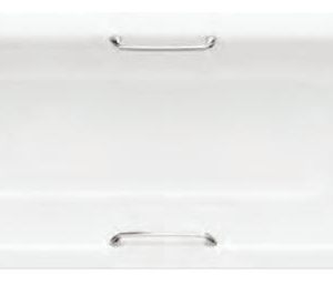 STEEL BATH WITH GRIPS AND ANTI-SLIP