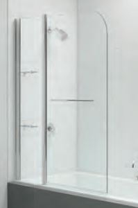TWO PANEL CURVED BATH SCREEN