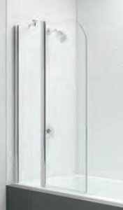 TWO PANEL CURVED FOLDING BATH SCREEN