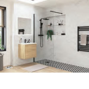 Wetroom Panel Black Profile