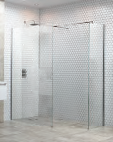 Wetroom Panel and support bar Flex