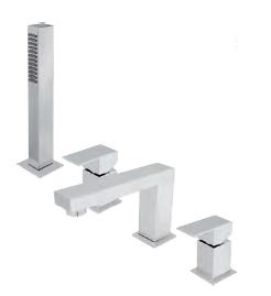 4 HOLE DECK MOUNTED BATH SHOWER MIXER