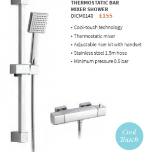 QUADRO COOL-TOUCH THERMOSTATIC BAR MIXER SHOWER